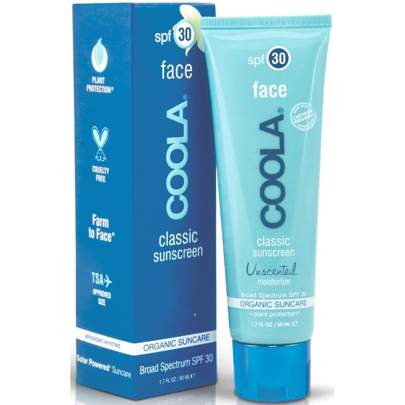 COOLA Classic Face Sunscreen Unscented SPF 30 - 50 ml (U)