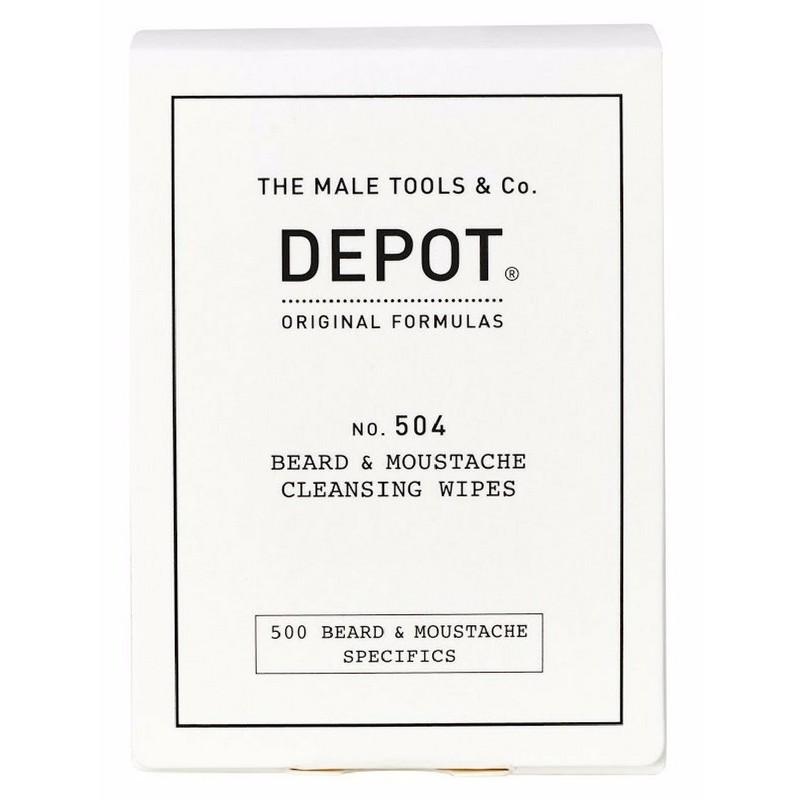 Depot No. 504 Beard & Moustache Cleansing Wipes 12 Pieces (U)