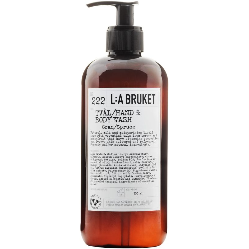 L:A Bruket 222 Hand & Body Wash Gran/Spruce 450 ml