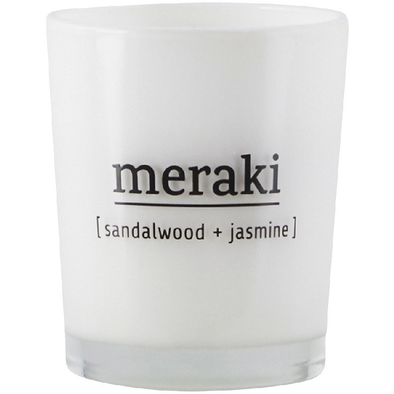 Meraki Scented Candle 5,5 x 6,7 cm - Sandelwood + Jasmine
