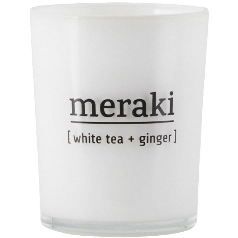 Meraki Scented Candle 5,5 x 6,7 cm - White Tea & Ginger