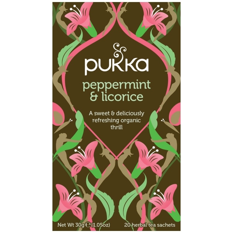 Pukka Peppermint & Licorice Te - �kologisk 30 gr.