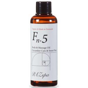 RAZspa Fn+5 Body & Massage Oil 100 ml - Cucumber Cuts & Sweet Peas (U)