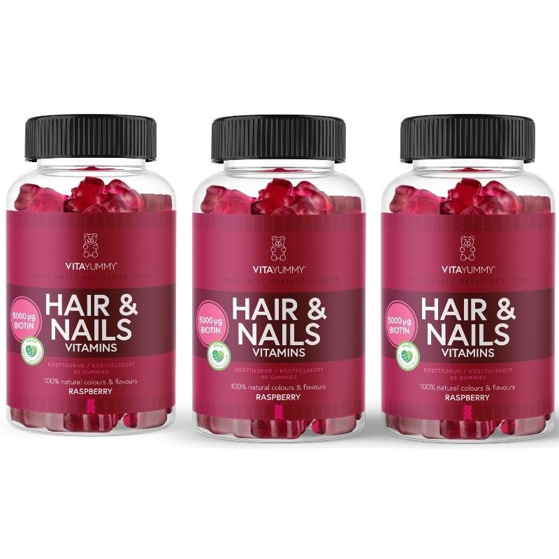 VitaYummy Hair & Nails Vitaminer 3 x 60 Pieces